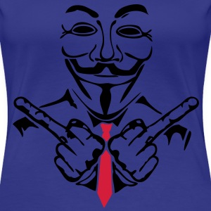 anonymous masque mask fuck cravate2 Tee shirts - T-shirt Premium Femme