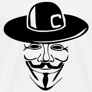 anonymous masque mask chapeau1 Tee shirts - T-shirt Premium Homme