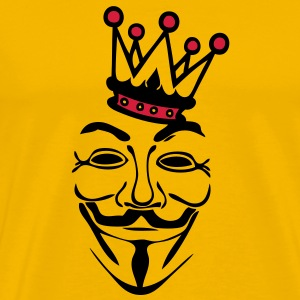 anonymous masque mask couronne crown kin Tee shirts - T-shirt Premium Homme