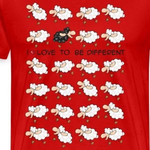 I love to be different T-Shirts - Men's Premium T-Shirt