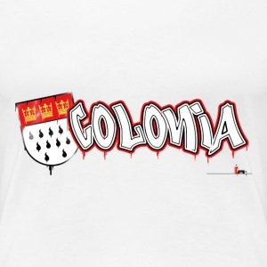 Colonia Graffiti T-Shirts - Frauen Premium T-Shirt