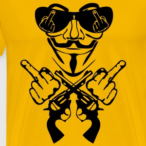 anonymous masque mask lunette fuck pist8 Tee shirts - T-shirt Premium Homme