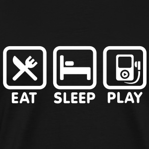 Eat Sleep Play Music Tee shirts - T-shirt Premium Homme