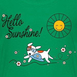 Hello sunshine, hello sping and summer kids Børne T-shirts - Teenager premium T-shirt