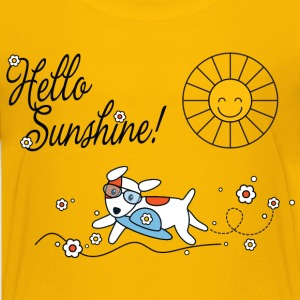 Hello sunshine, hello sping and summer kids Kids' Shirts - Teenage Premium T-Shirt