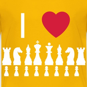 I love Chess Kids' Shirts - Kids' Premium T-Shirt
