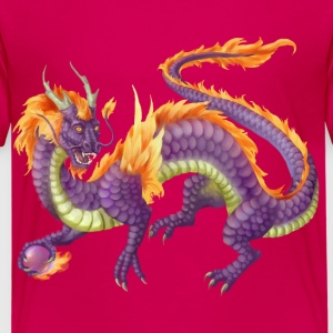 purple chinese dragon - Premium-T-shirt barn