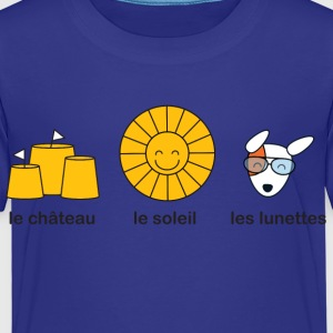 French course for sunny summer beach weather Kids' Shirts - Kids' Premium T-Shirt