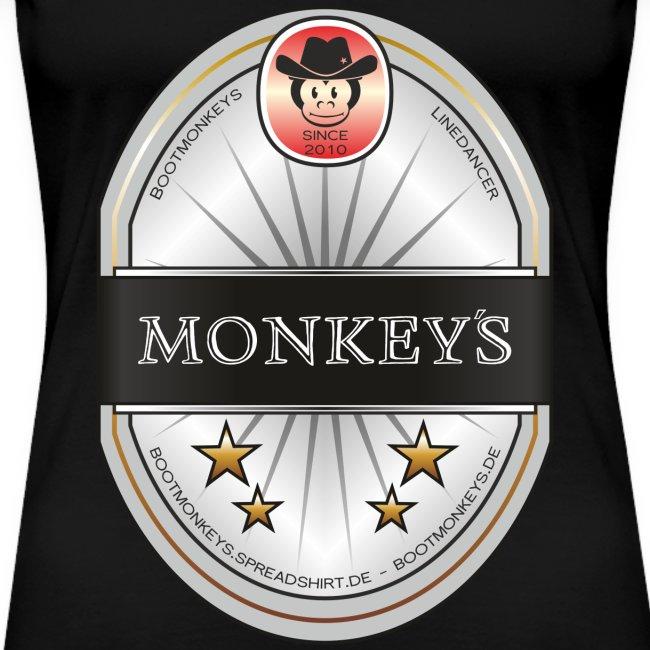 Monkey´s Beer Shirt Girlie
