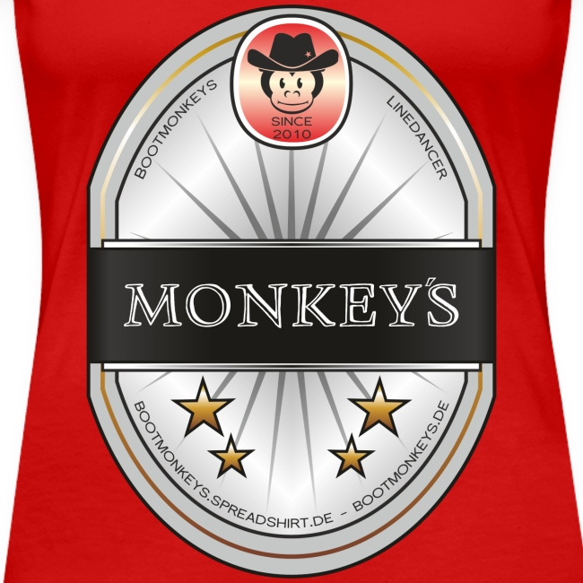 Monkey´s Beer Shirt Girlie