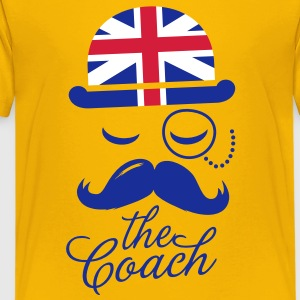 England Gentleman championship coach football | olympics sporting moustache Kids' Shirts - Teenage Premium T-Shirt