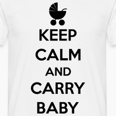 Keep calm and carry baby T-shirts
