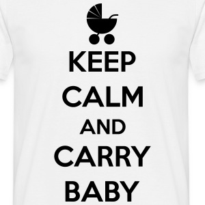 Keep calm and carry baby T-shirts - Herre-T-shirt