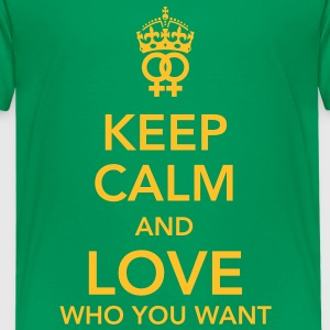 keep calm and love who you want - lesbian T-shirts - Premium-T-shirt tonåring