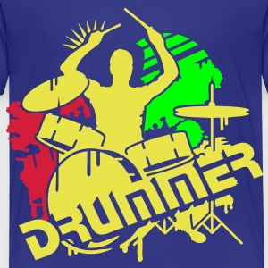A drummer and his drums Kids' Shirts - Kids' Premium T-Shirt