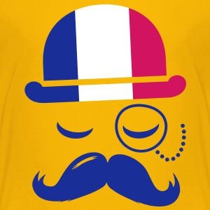France fashionable retro iconic gentleman with flag | sports | football | Moustache Lasten paidat - Teinien premium t-paita