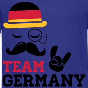 Germany team fashionable championship winner gold medal olympics football flag moustache Kids' Shirts - Teenage Premium T-Shirt