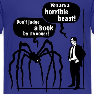 Cartoon: Horrible Beast! / Don't judge a book by its cover! Classic Teenager T-Shirt - Teenage Premium T-Shirt