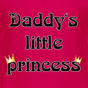 daddys little princess Kids' Shirts - Teenage Premium T-Shirt