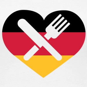 Deutsches Essen | German Food T-Shirts - Dame premium T-shirt