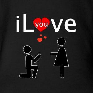 i Love you Shirts - Baby bio-rompertje met korte mouwen