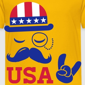 Cool USA American Sir with flag rocks for sports   champion and election vote America t shirts Kids' Shirts - Kids' Premium T-Shirt