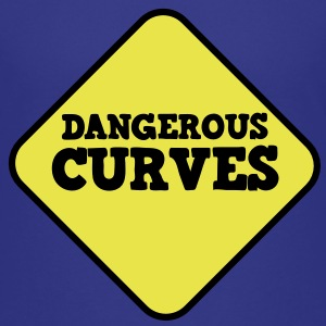 beware sign dangerous curves Kids' Shirts - Teenage Premium T-Shirt