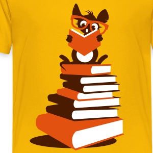 A small rat reads Kids' Shirts - Teenage Premium T-Shirt