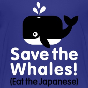 Save the Whales! Eat the Japanese Kinder shirts - Kinderen Premium T-shirt