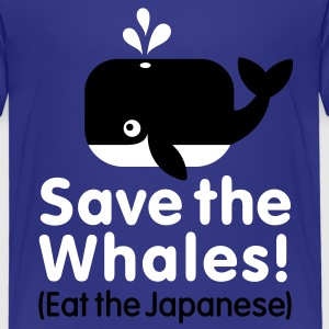Save the Whales! Eat the Japanese Kinder T-Shirts - Kinder Premium T-Shirt