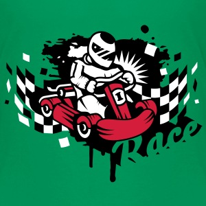 Rennauto Kart Graffiti Kinder T-Shirts - Teenager Premium T-Shirt