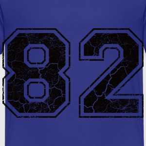 Number 82 in the grunge look Kids' Shirts - Kids' Premium T-Shirt