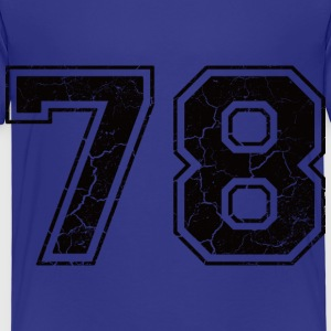 Number 78 in the grunge look Kids' Shirts - Kids' Premium T-Shirt