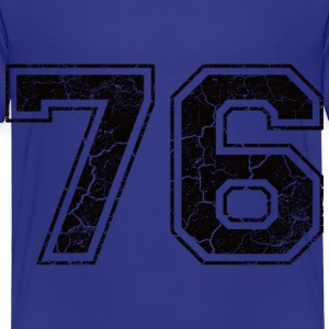 Number 76 in the grunge look Kids' Shirts - Kids' Premium T-Shirt