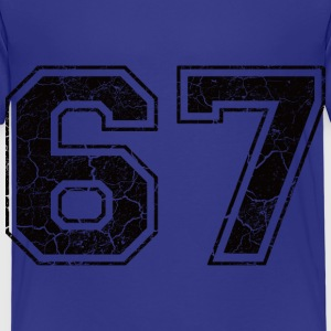Number 67 in the grunge look Shirts - Kids' Premium T-Shirt