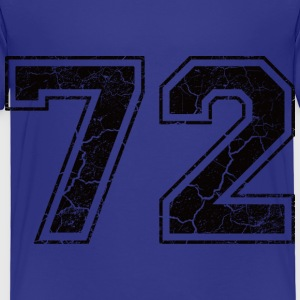 Number 72 in the grunge look Kids' Shirts - Kids' Premium T-Shirt