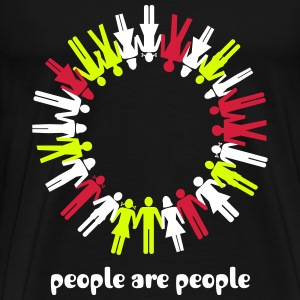 human chain, people, peace - Mannen Premium T-shirt