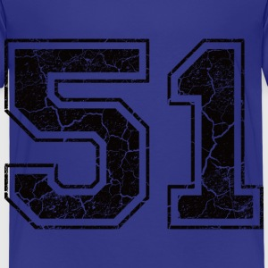 Number 51 in the grunge look Shirts - Kids' Premium T-Shirt