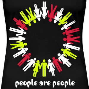 human chain, people, peace - Women's Premium T-Shirt