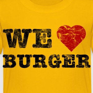 we_love_burger_vintage Skjorter - Premium T-skjorte for barn