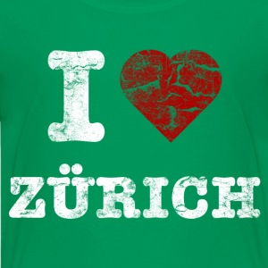 i_love_zürich_vintage_light Shirts - Teenage Premium T-Shirt