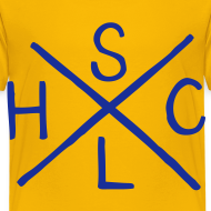 Design ~ SLHC X t-shirt blue/yellow KIDS