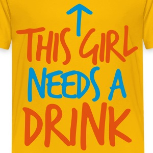 THIS GIRL NEEDS a DRINK with arrow drinking design Shirts - Kids' Premium T-Shirt
