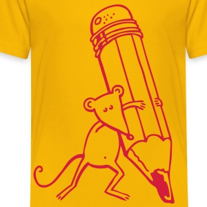 Mouse writing Shirts - Kids' Premium T-Shirt