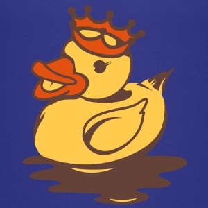 A rubber duck with crown Shirts - Teenage Premium T-Shirt