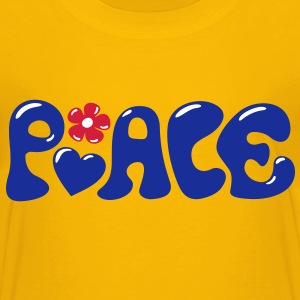 3-D Peace. Hart en bloem - Love & Happiness Shirts - Kinderen Premium T-shirt