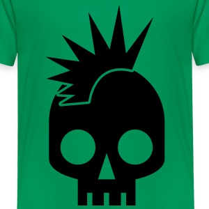 cool skull square with awesome mowhawk punk baby Shirts - Kids' Premium T-Shirt