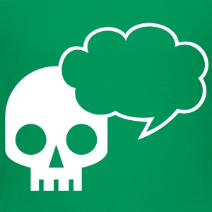 Cool skull square with awesome speech bubble talk Shirts - Kids' Premium T-Shirt