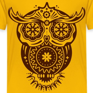 Owl in the style of Sugar Skulls Shirts - Kids' Premium T-Shirt