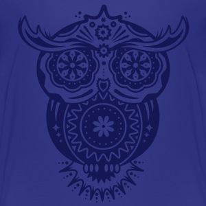 Owl in the style of Sugar Skulls Shirts - Teenage Premium T-Shirt
